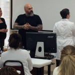 Celebrity Makeup Artist James Vincent Presents to Estelle Students